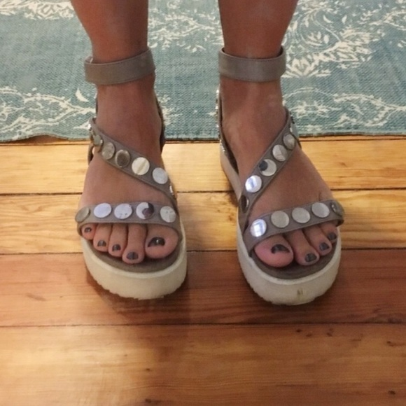 8efc3650a89 Free People Shoes - • free people inuovo platform leather sandals •